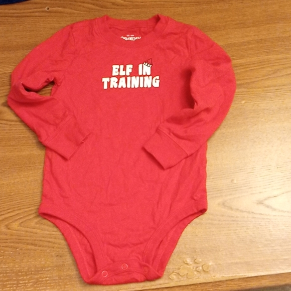 Long sleeve Red Christmas Bodysuit size 24Month